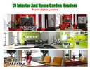 10 Interior And Home Garden Header Graphics With Resell Righ