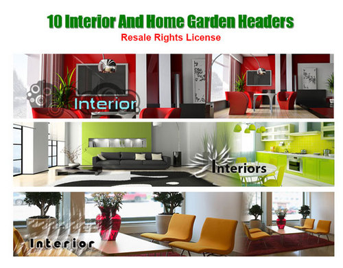 Product picture 10 Interior And Home Garden Header Graphics With Resell Righ