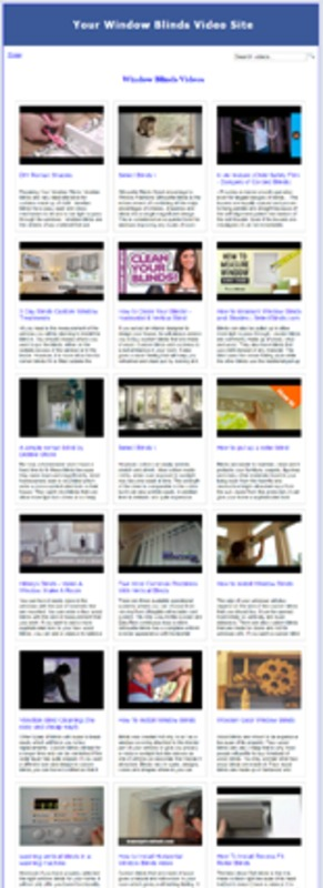 Product picture  Window Blinds Video Site Builder MRR