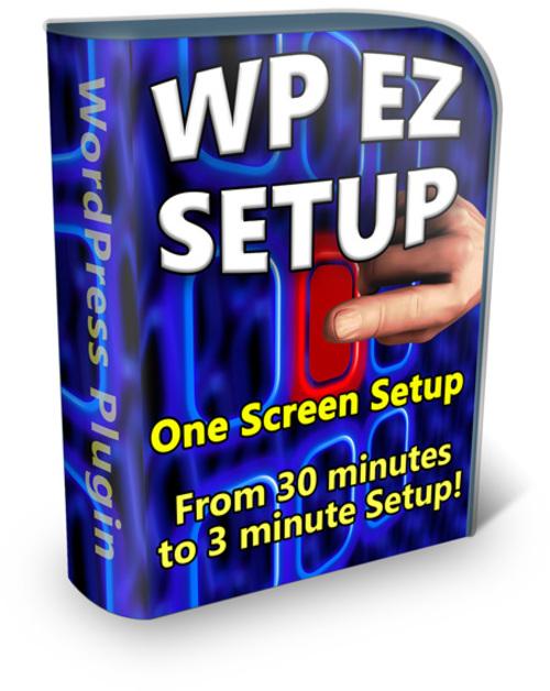 Product picture  WP EZ Setup - PLR