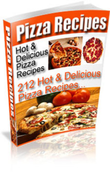 Product picture 212 Hot And Delicious Pizza Recipes