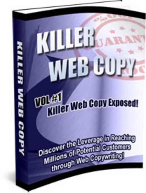 Product picture MRR Killer Web Copy 3 Volume Set